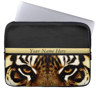 Ojos de un tigre personalizado funda ordendadores