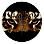Ojos de un tigre reloj de pared