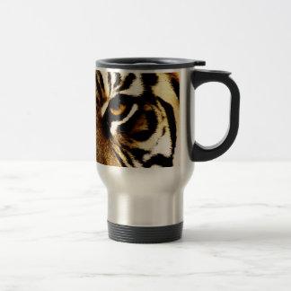 Ojos de un tigre tazas de café