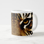 Ojos de un tigre taza jumbo