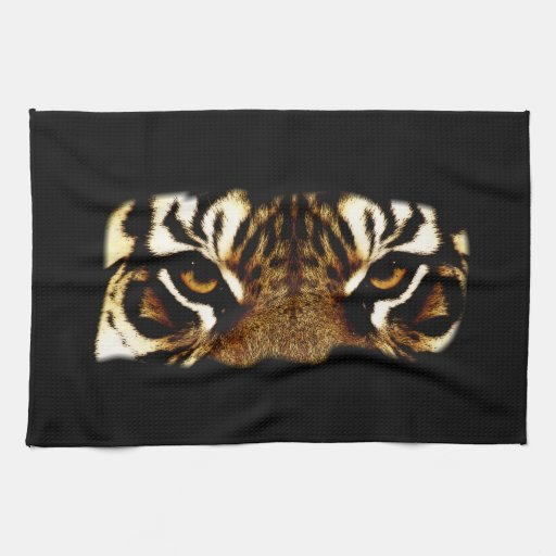 Ojos de un tigre toalla de mano
