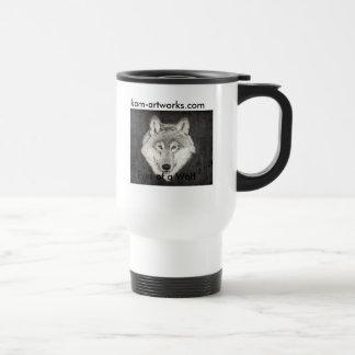 Ojos de una taza del lobo