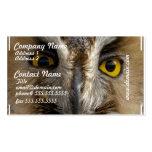 Ojos del búho plantillas de tarjetas personales
