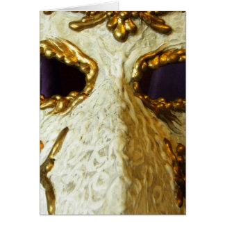 Ojos del carnaval felicitacion