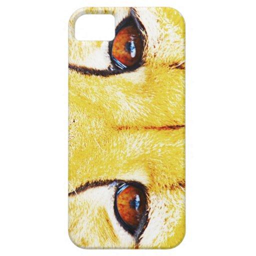 ojos del caso de África iphone4 del guepardo iPhone 5 Case-Mate Funda