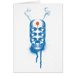 Ojos del cráneo 6 (azules) tarjeta de felicitación