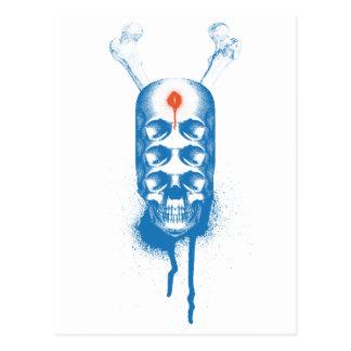 Ojos del cráneo 6 (azules) postal