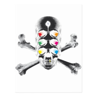 Ojos del cráneo 6 (negativos) postales