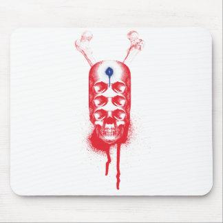 Ojos del cráneo 6 (rojos) mousepads