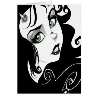 Ojos del demonio tarjeta de felicitación