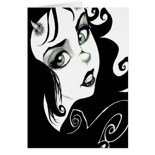 Ojos del demonio felicitación