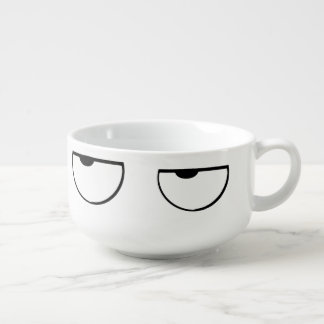 ojos del dibujo animado cuenco para sopa