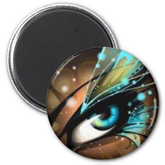 Ojos del enfermo del amor imán redondo 5 cm