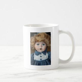 Ojos del espectáculo de marionetas de la muñeca taza básica blanca