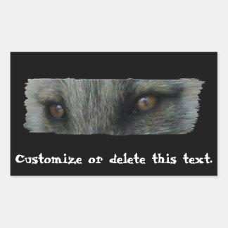 Ojos del Fox ártico de AFE Pegatina Rectangular