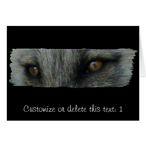 Ojos del Fox ártico de AFE Tarjeta De Felicitación