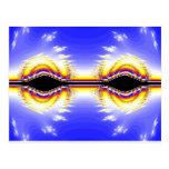 Ojos del fractal postal