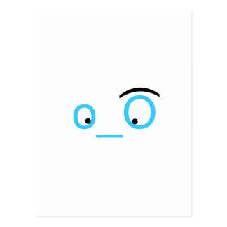 ojos del gorjeo postales