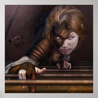 Ojos del guerrero póster