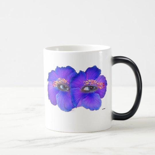 Ojos del hibisco - azul taza mágica