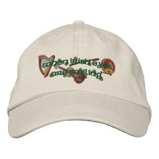 Ojos del irlandés gorras de beisbol bordadas