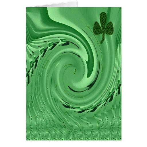 Ojos del irlandés tarjeta de felicitación