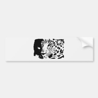 Ojos del leopardo de B&W Pegatina De Parachoque