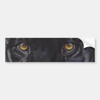 Ojos del leopardo de la pantera negra pegatina para auto