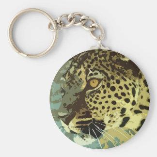 Ojos del leopardo llavero redondo tipo pin