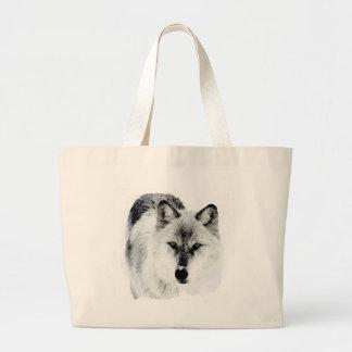 Ojos del lobo bolsa tela grande