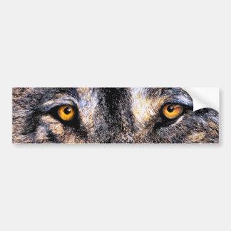 Ojos del lobo pegatina de parachoque