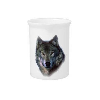 Ojos del lobo gris jarras