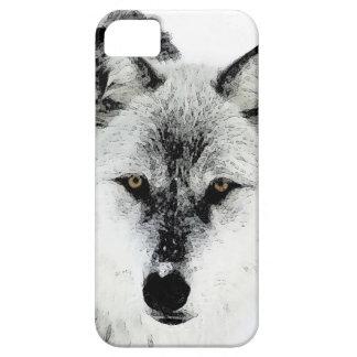 Ojos del lobo iPhone 5 protectores