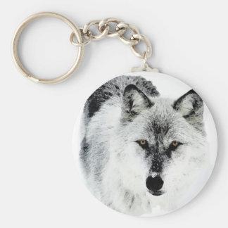 Ojos del lobo llaveros personalizados