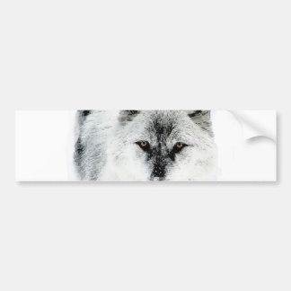 Ojos del lobo pegatina para auto