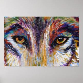 Ojos del lobo póster