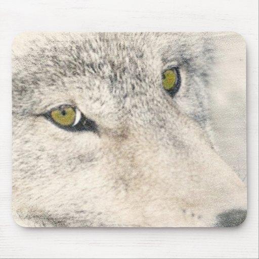 Ojos del lobo tapete de raton