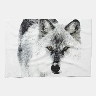 Ojos del lobo toalla