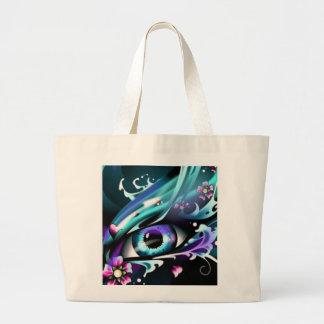 ojos del mar azul profundo bolsa tela grande