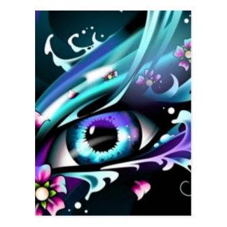 ojos del mar azul profundo postal