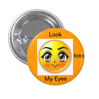 ojos del marrón pin redondo de 1 pulgada