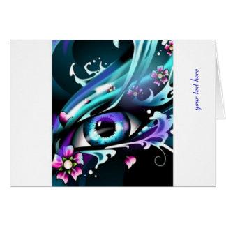 Ojos del océano azul profundo tarjeta de felicitación