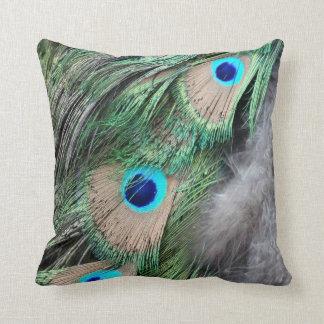 Ojos del pavo real del verde del trigo del grano cojin
