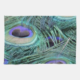 ojos del pavo real toalla de cocina