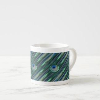 Ojos del pavo real taza de espresso