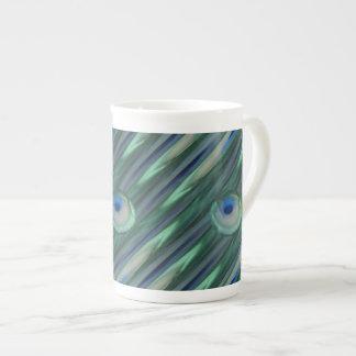 Ojos del pavo real taza de té