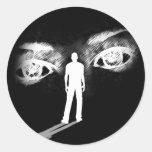 Ojos del pegatina de la diosa (negro)
