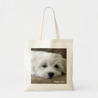 Ojos del perrito bolsa tela barata