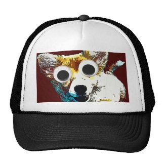 Ojos del perrito gorro de camionero