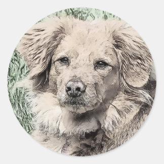 Ojos del perro de perrito pegatinas